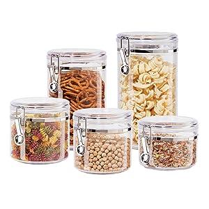 OGGI Fresh Clear Acrylic Food Storage Canister