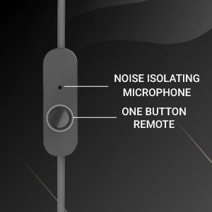 One button remote with microphone