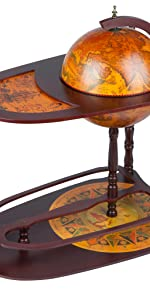 home deco alcohol serving replica antique globe bar cart extended shelf cocktail table drink cabinet