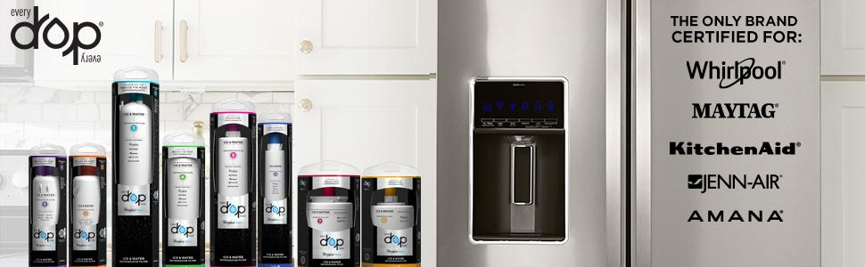 Original Ukf8001 Puriclean Ii Filtre A Eau De Réfrigérateur Pour Amana Maytag Latest Technology Autres