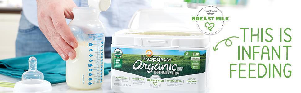 Happy Baby Organic - Polvo a base de leche para bebés con ...