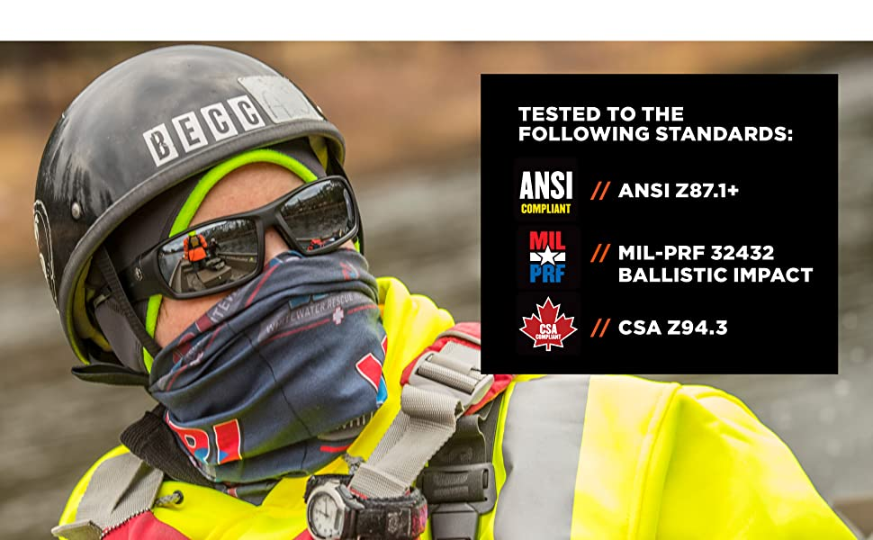 safety glasses, ansi compliant, mil prf, csa compliant