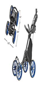CaddyCruiser ONE V8 - Blue