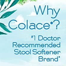 colace clear regular strength 2 in 1 constipation stool softener occasional gentle dependable