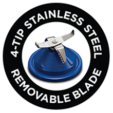 4-Tip Stainless Steel Removable Blade