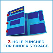 3-Hole Punched for 3-Ring Binder Storage Perfect or Organizing/Storing in School or College Binders