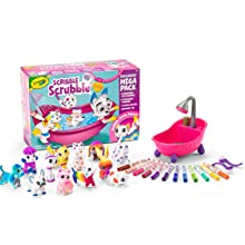 scribble scrubbie pets, scribble scrubbie mega set, crayola scribble scrubbies, animal toys for kids