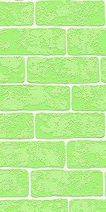 Wood and Stone behang steenlook, natuur, realistisch, landhuis, modern, groen, wit