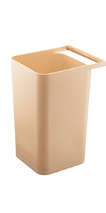 beige como trash can