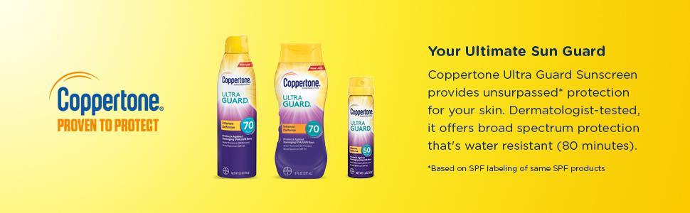 Amazon Com Coppertone Ultraguard Sunscreen Lotion Spf 70 8 Ounce Bottle Beauty