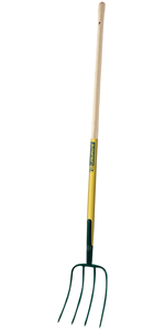 4 dents Acier forg/é et tremp/é Largeur: 21 cm Manche: 130 cm Leborgne Croc /à fumier