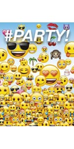 9oz Emoji Party Cups 8ct 16oz Plastic Cup Poop Favor Container Goodie Bags Invitations