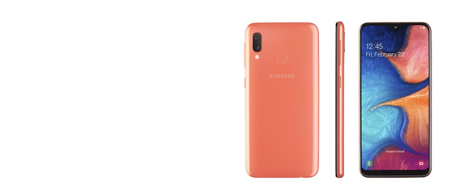 "Samsung Galaxy A20e Display 5.8"", 32 GB Espandibili, RAM 3 GB, Batteria 3000 mAh, 4G, Dual SIM Smartphone, Android 9 Pie, (2019) [Versione Italiana], White"