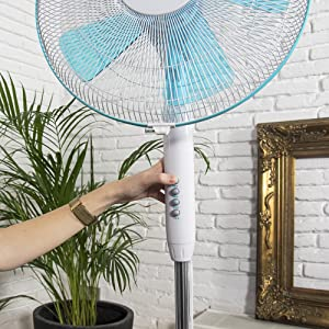 Cecotec Ventilador de Pie EnergySilence 500. 5 Aspas, Oscilante, 3 ...