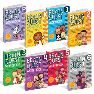 Brain Quest, workbooks, pre-k, kindergarten, grade 1, grade 2, grade 3, grade 4, grade 5, grade 6