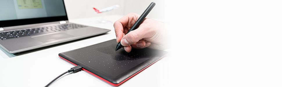 pen on tablet