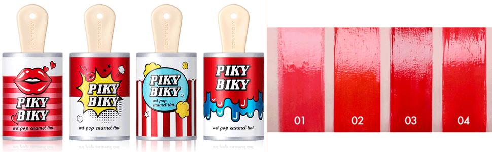 piky biky, lip tint, enamel tint, tonymoly, tony moly