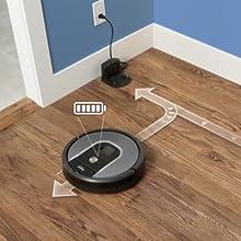 charging robot aspirateur