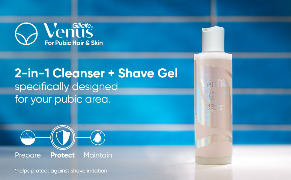 Specifically designed for your pubic hair - 2-in-1 Cleanser and shave gel