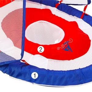 Swimways Baby Spring Float Sun Canopy Blue Discontinued