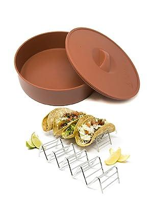 Amazon.com: Alpha Living - Calentador Tortilla con 2 ...