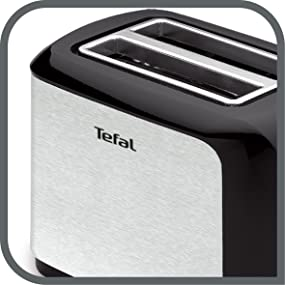 tefal tt356110 grille pain inox noir toast petit d jeuner pain grill rapideme ebay. Black Bedroom Furniture Sets. Home Design Ideas