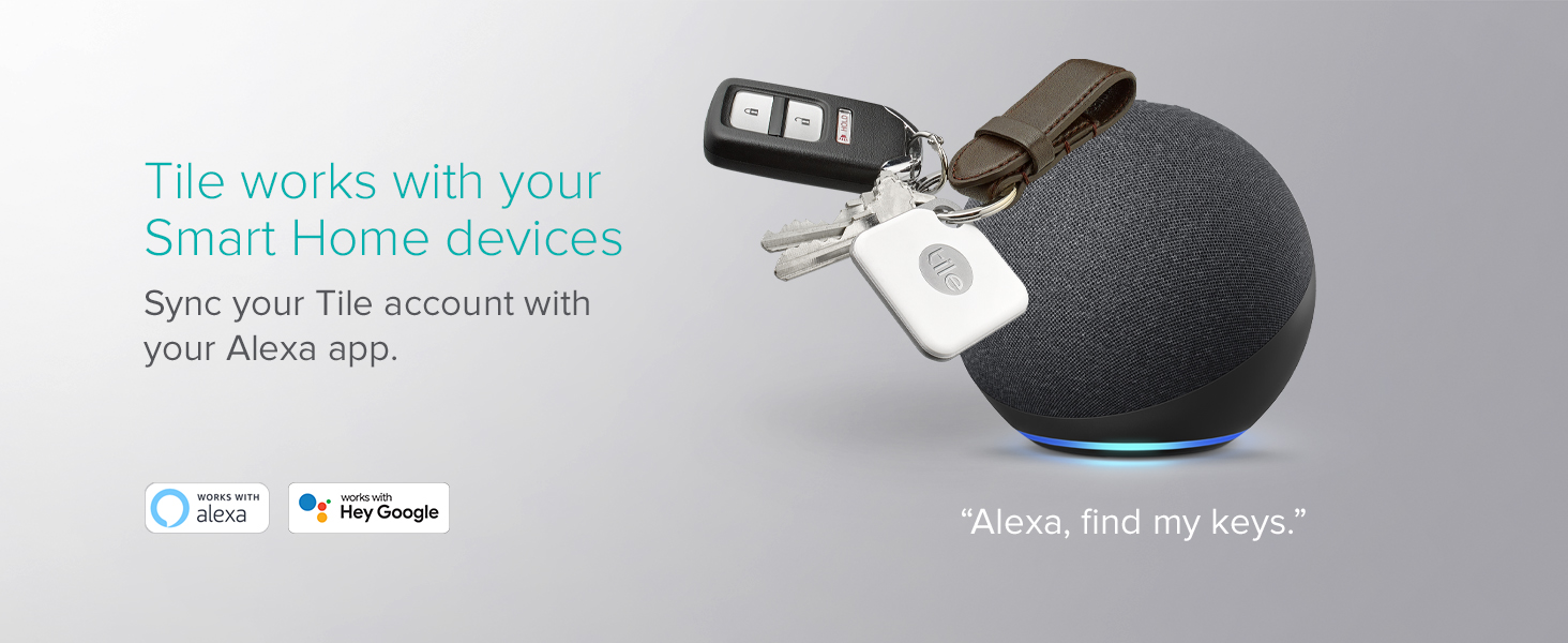 Tile works with your Smart Home Devices sync your Tile account with your Alexa app