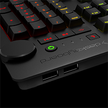 Two-Port, USB 2.0, USB Hub, Mechanical Keyboard, RGB, Gaming, Flash Drive, Device, Cherry, Brown, MX