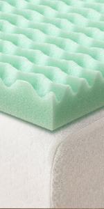 5 zone memory foam topper