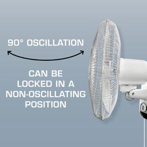 Adjustable Tilt & Fan Direction