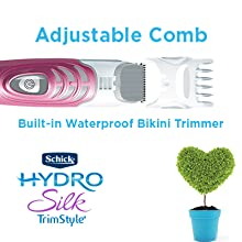 Schick Hydro Silk TrimStyle Trim Style Bikini Trimmer groomer pubic curves smooth shave