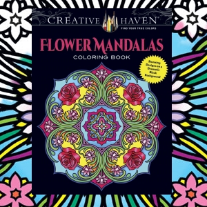 floral flower adult coloring mandala