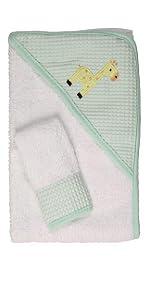Hooded towel, towel, bath, wash cloth, baby, infant, boy girl, soft, cute, bib, blanket,