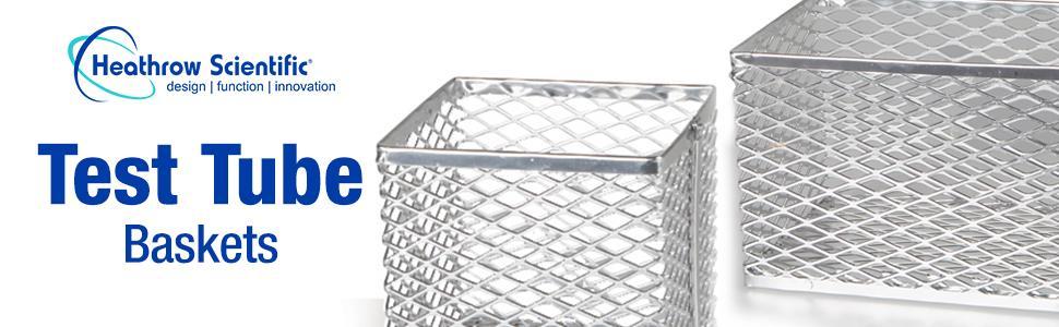 Test Tube Basket Heathrow Scientific mechanical washer autoclave storage lab holder wash clean