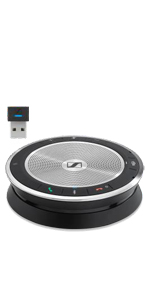Sennheiser Expand SP 30T Microsoft Teams Certified Mobile Phone /& Softphone Connection PC 508392 Portable Sound-Enhanced Speakerphone