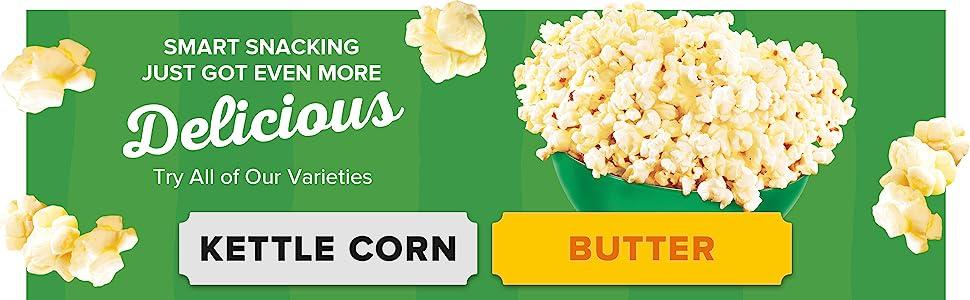 Low Calorie Microwave Popcorn Varieties from Orville Redenbacher's SmartPop!