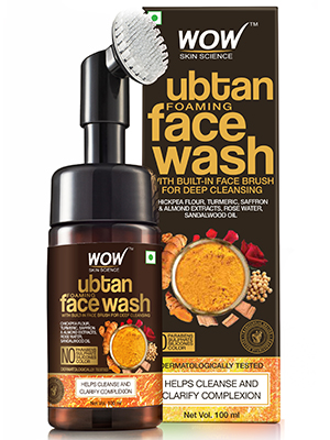 Ubtan Foaming Face Wash with Built-In Face Brush