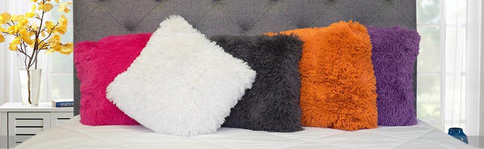 plush throw pillows