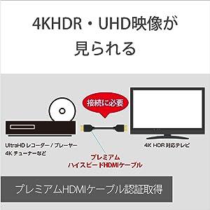 4KHDR/UHD映像が見られる