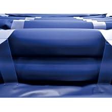 Colchón antiescaras de aire, Con compresor, TPU Nylon, 200 x 90 x 22, 20 celdas, Azul, Mobi 4, Mobiclinic