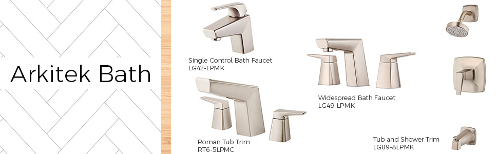 Bathroom faucets and tub and shower trims