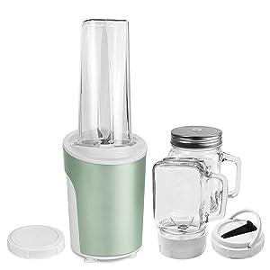 Venga! VG BL 3009 - Mezcladora y batidora para smoothies 2 en 1 de 450 W, 600 ml (acero inoxidable, plástico y cristal, color verde menta): Amazon.es: Hogar