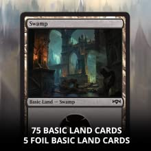 Ravncia Allegiance 75 basic land cards and 5 foil land cards