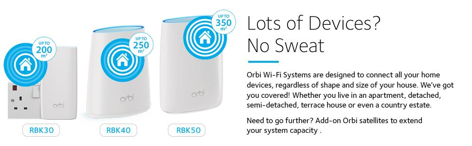 Netgear Rbk30 Orbi Whole Home Wi Fi Mesh System Up To 3500