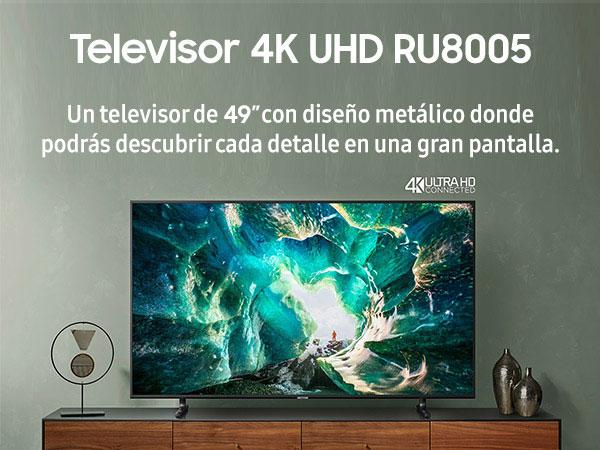 Samsung UE49RU8005, Smart TV con Resolución 4K UHD, Wide Viewing Angle, HDR (HDR10+), Procesador 4K, One Remote Control, Apps en Exclusiva y Compatible con Alexa, Ethernet, 49: Amazon.es: Electrónica