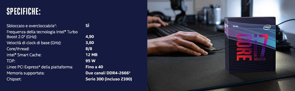 Processore Intel Core i5 9700K