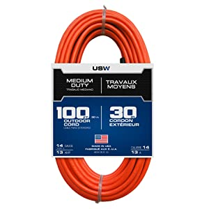USW, extension cord, heavy duty extension cord, flexible extension cord, cold weather extension cord