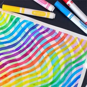 Pennarelli, lavabili, colorare, crayola, calligrafia, lettering, punta, maxi, fine, casa, scuola