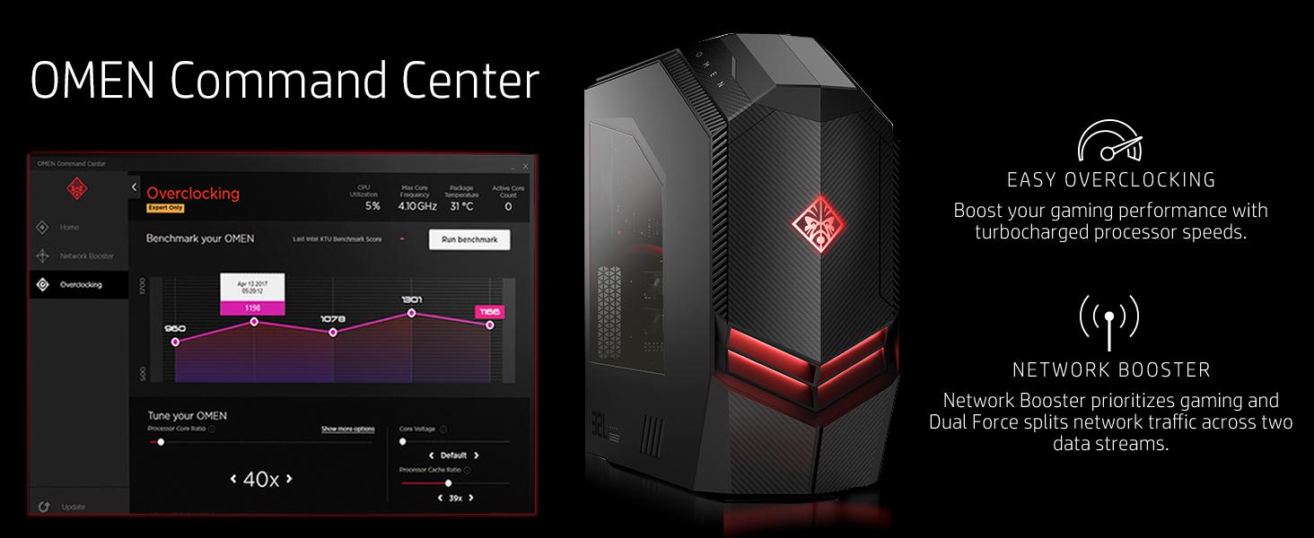 OMEN by HP Gaming Desktop Computer, Intel Core i7-9700K Processor, NVIDIA  GeForce RTX 2080 8 GB, HyperX 16 GB RAM, 2 TB hard drive, 512 GB SSD,