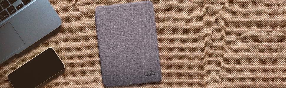 Capa Kindle Paperwhite WB Ultra Leve Tecido Lilás